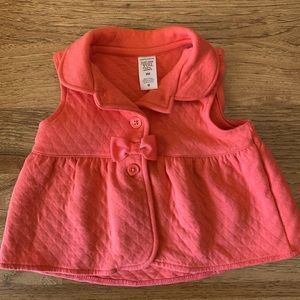 Carter's baby girl salmon- color vest